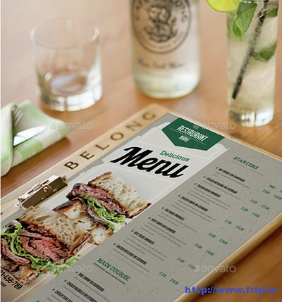 Clean-Restaurant-Menu