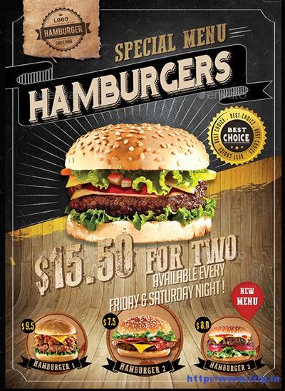 Hamburger-Menu-Flyer