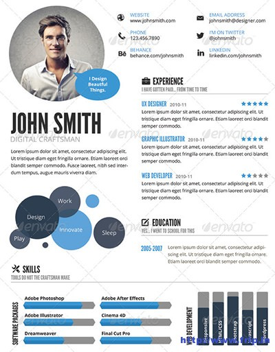 Infographic-Style-Resume-Template