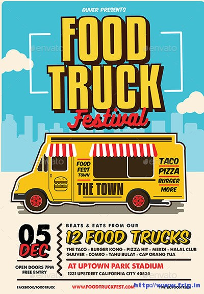 Pop-Art-Food-Truck-Flyer
