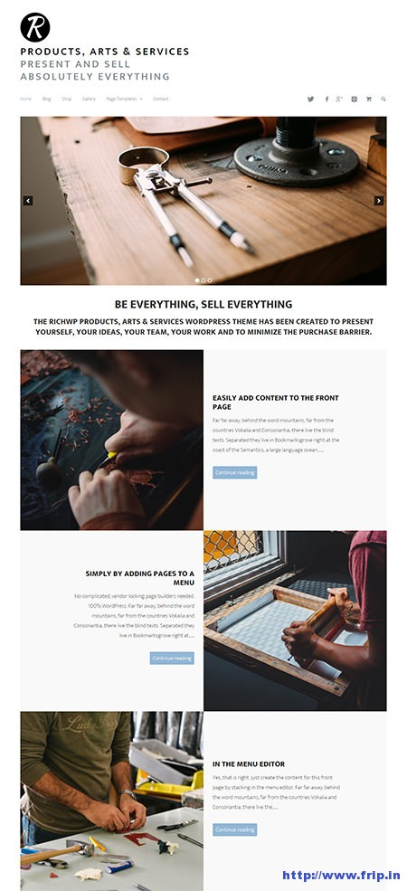 Products-Arts-&-Services-WordPress-Theme