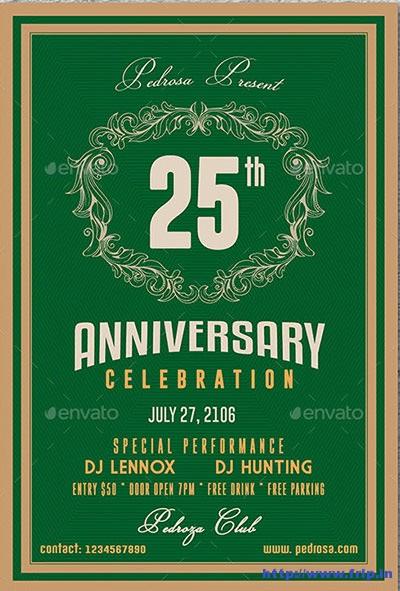 Simple-Anniversary-Celebration-Flyer