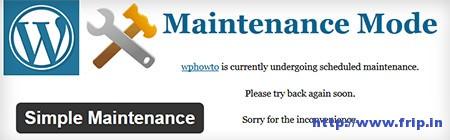Simple-Maintenance-WordPress-Plugin