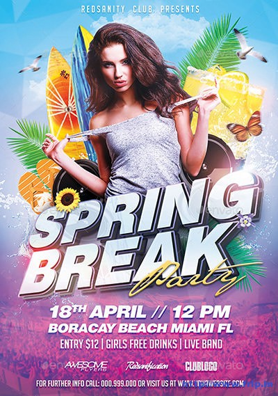 Spring-Break-Party-Flyer-Template