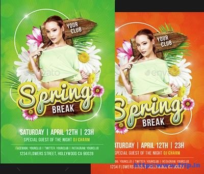 Spring-Break-Party-Flyers