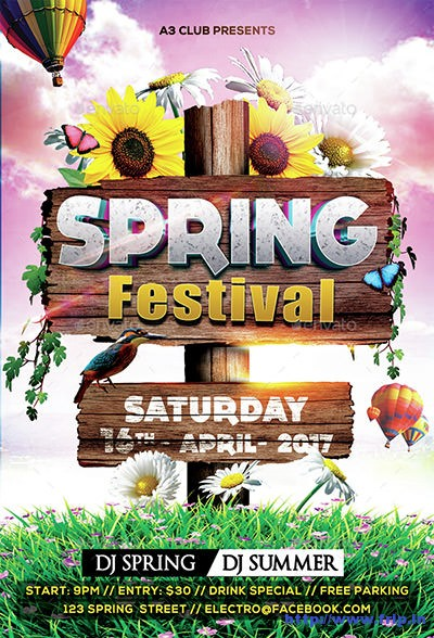 Spring-Festival-Party-Flyer