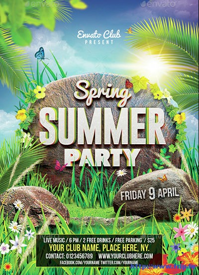 Spring-Summer-Party-Flyer