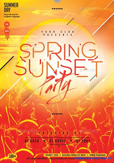 Spring-Sunset-Party-Flyer