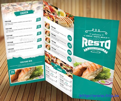 Trifold-Food-Menu