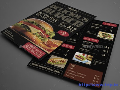 Vintage-Burger-Menu-Flyer