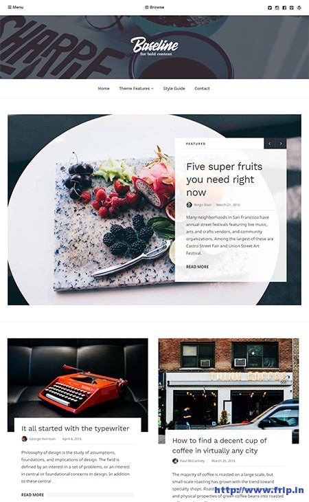 Baseline-Magazine-Style-WordPress-Theme
