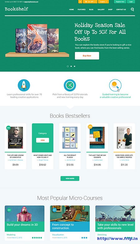 Book-Shelf-Book-&-Media-WordPress-Theme