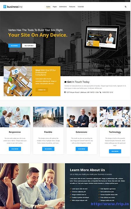 Business-Line-Joomla-Template