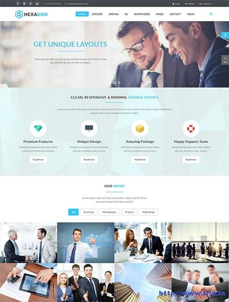 Hexagon-Business-Joomla-Template