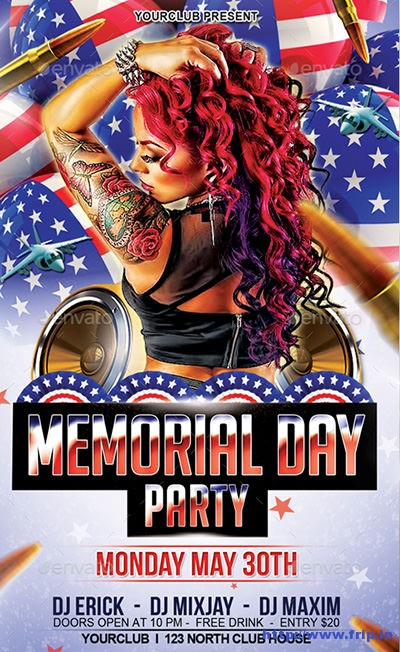 Memorial-Day-Party-Flyer