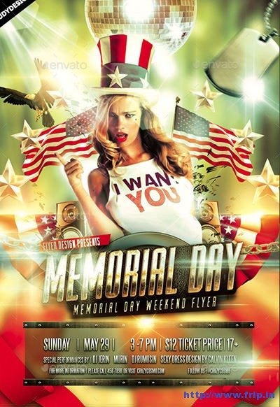 Memorial-Day-Weekend-Flyer-Invitation