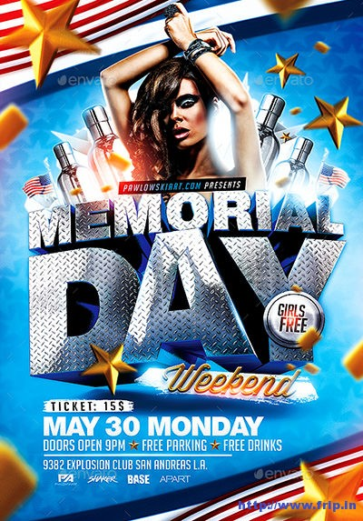 Memorial-Day-Weekend-PSD-Flyer