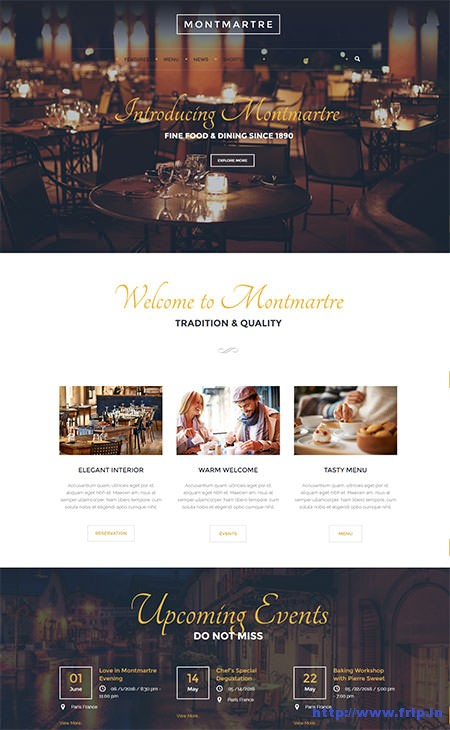 Montmartre-Café-WordPress-Theme