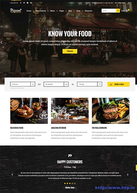 Piquant-Restaurant-Bar-Café-Theme