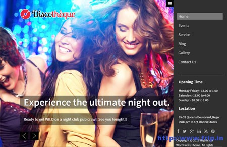 discotheque night club wordpress theme