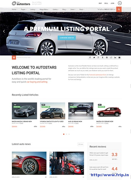 Auto-stars-WordPress-theme