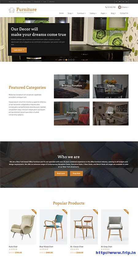 Furnitaure-Responsive-WordPress-Theme