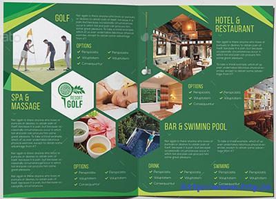Golf-Resort--A5-Brochure-Template