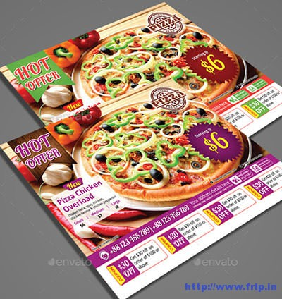 pizza restaurant flyer
