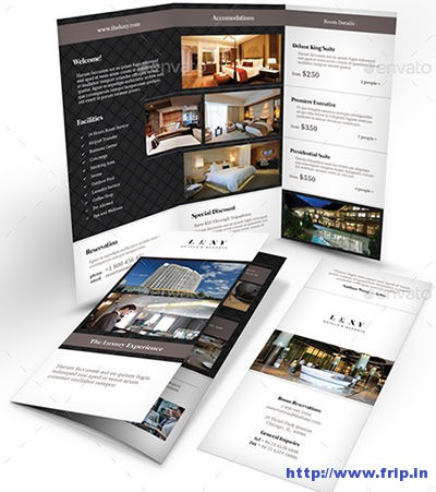 50 best hotel brochure print templates 2016 for Hotel brochure templates free download