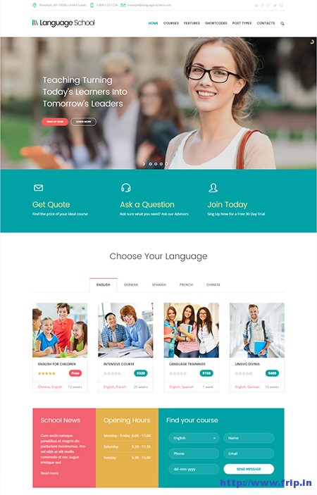 Language-School-LMS-WordPress-Theme