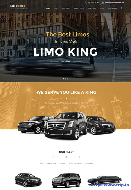 Limo-King-Car-Hire-WordPress-Theme