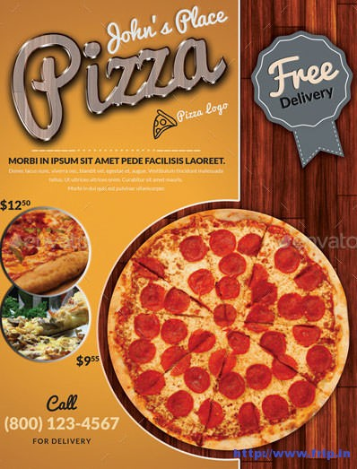 Best 40 pizza restaurant flyer print templates 2016 for Pizza sale flyer template