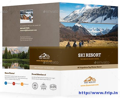 Ski-Resort-Bifold-Halffold-Brochure