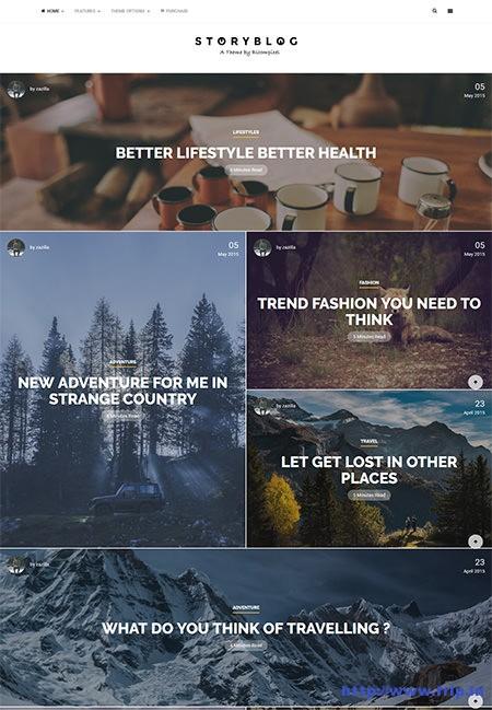 storytelling wordpress themes
