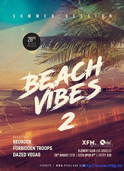 Beach-Vibes-2-Summer-Party-Flyer