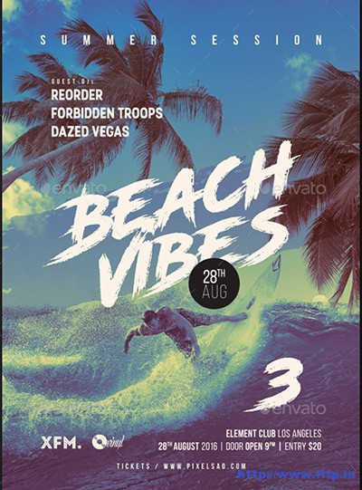 Beach-Vibes-3-Summer-Party-Flyer
