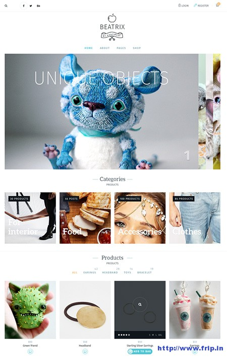 Beatrix-handmade-shop-wordpress-theme