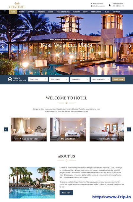 Chateau-WordPress-Booking-theme