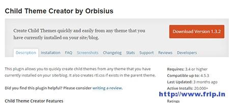 Child-Theme-Creator-WordPress-Plugin