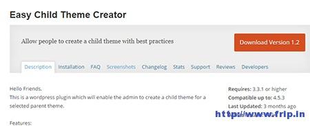 Easy-Child-Theme-Creator