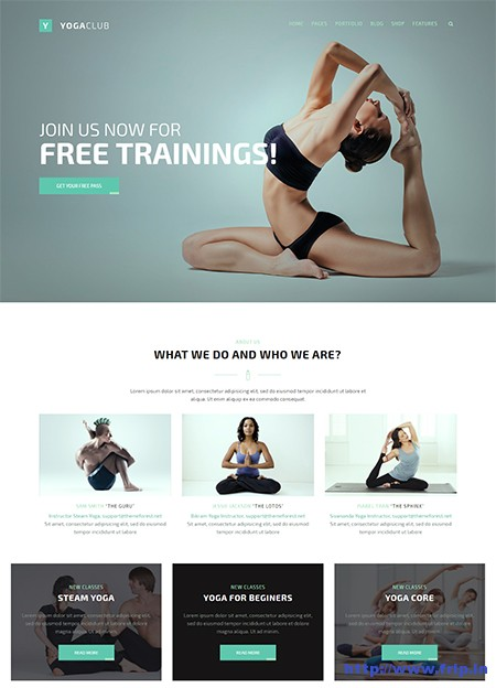 FightClub-Yoga-WordPress-Theme