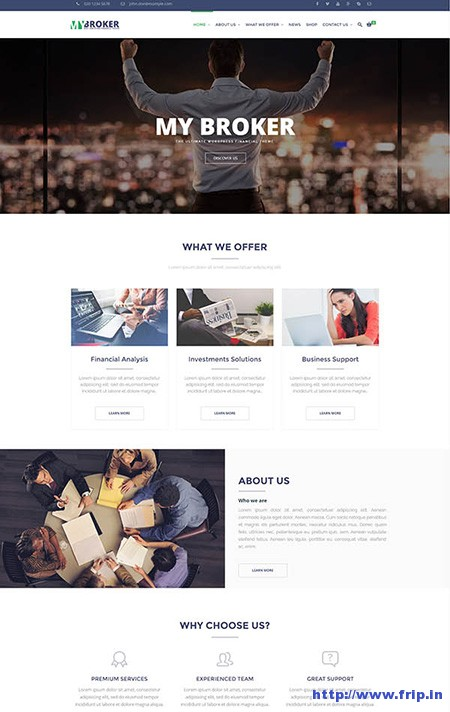 My-Broker-Finance-WordPress-Theme