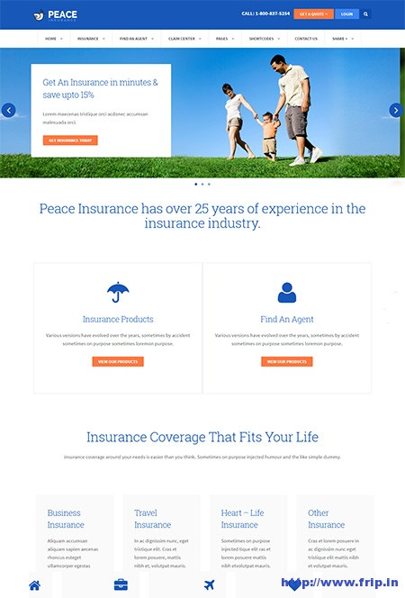 Peace-Insurance-Agency-WordPress-Theme