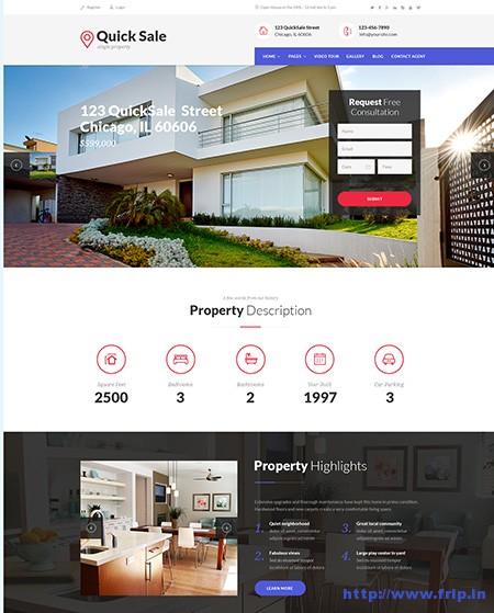 Quick-Sale-Single-Property-WordPress-Theme