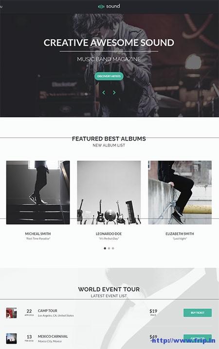 Sound-Music-WordPress-Theme