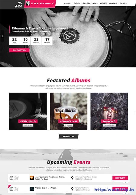 The-Artist-Music-Band-WordPress-Theme