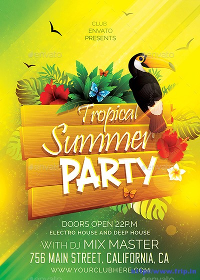 Tropical-Summer-Party-Flyer