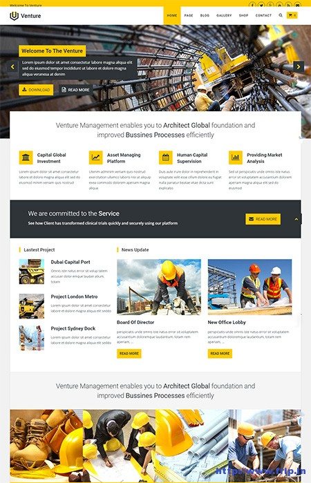 Venture-Business-WordPress-Theme