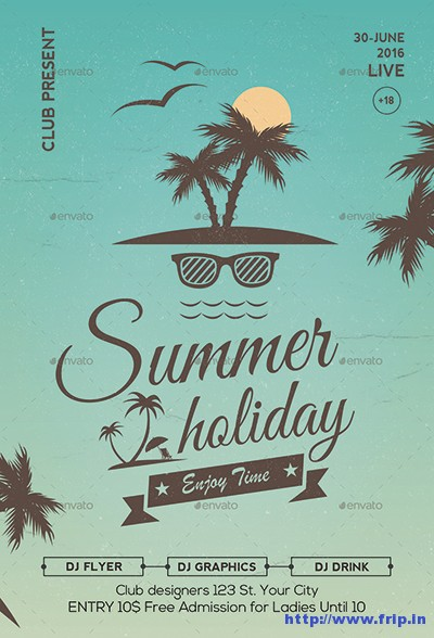 Vintage-Summer-Party-Flyer