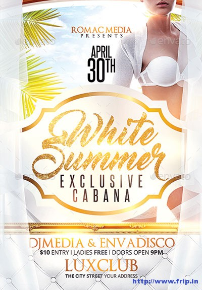 White-Summer-Party-Flyer